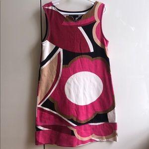 Gap Pink Patterned Floral + Geometrical Dress